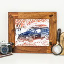 Handmade Morris Minor Traveller Fathers Day Print