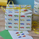 Bright sheep giftwrap