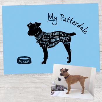 Personalised Dog Typography Print