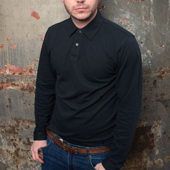 Long Sleeved Fitted Polo