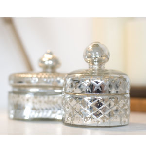Vintage Style Glass Trinket Box - jewellery storage & trinket boxes