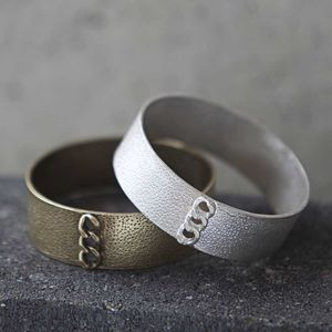 Bangle With Chain Inset Detail