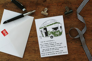 'Tips For Caravanning' Card - retirement cards