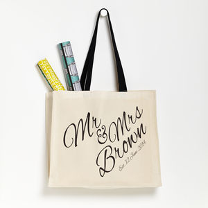 Personalised 'Mr And Mrs' Wedding Bag