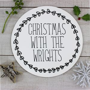 Personalised Christmas Family Placemat