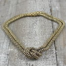 Magnetic Gold Knot Necklace