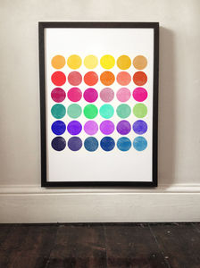 Colour Play Six Abstract Print - posters & prints