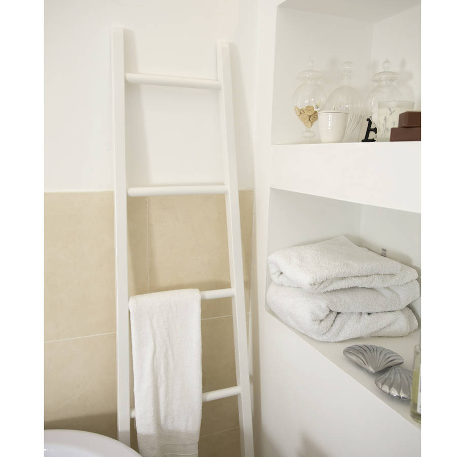 The Orchard White Wooden Towel Ladder