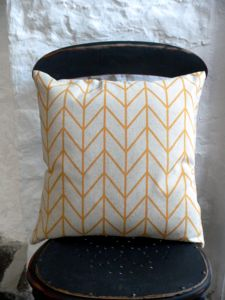 Chevron Cushion Thin Line One - cushions