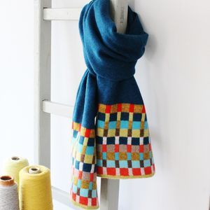 Locomotive Teal Lambswool Scarf - view all sale items