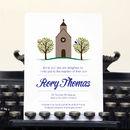 Personalised Christening Invitation Card