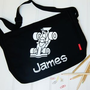 Personalised Child's Race Car Bag - bags, purses & wallets