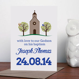 Personalised Christening Greeting Card - cards