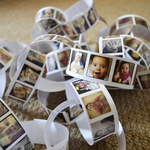 Photo Personalised Party Paper Chains - hanging decorations