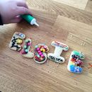 Children's Personalised Alphabet Biscuit Decorating Kit