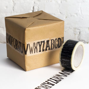 Alphabet Sticky Tape - diy & craft