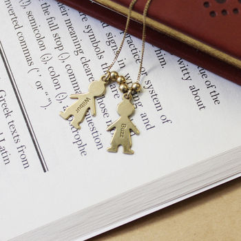 Sterling Silver Children Charm Necklace