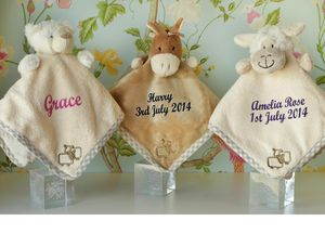 Boxed Baby Comforter/Soother Optional Personalisation - view all sale items