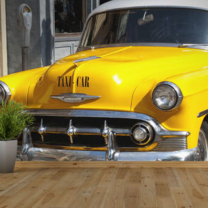 Vintage American Taxi Self Adhesive Wallpaper