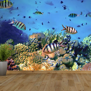 Coral Reef Self Adhesive Wallpaper - office & study
