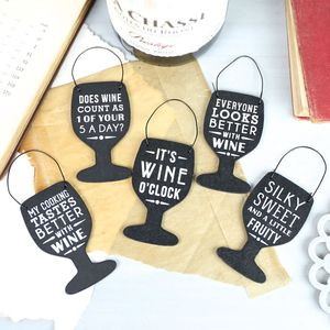 Little Wine Glass Tags