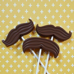Chocolate Moustache Lollipop Mould - beard & moustache gifts