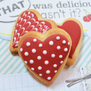 Mini Love Heart Cookie Decorating Kit - food & drink gifts