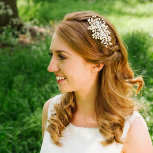 Bella Pearl And Crystal Head Piece - bridal hairpieces