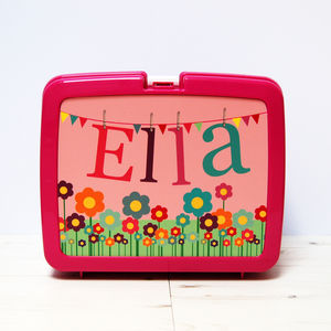 Personalised Traditional Style Flower Lunchbox