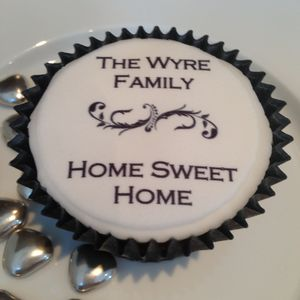 New Home Cupcake Toppers - cakes