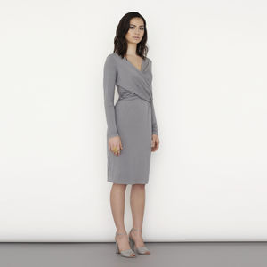 Wrap Front Nursing Dress - women's fashion