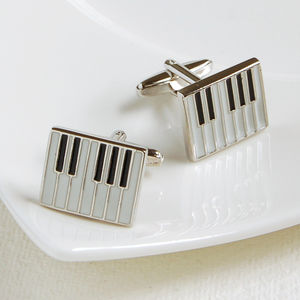 Piano Cufflinks - men's jewellery