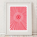 'Tunnock's Teacake Wrapper' Illustrated A3 Print