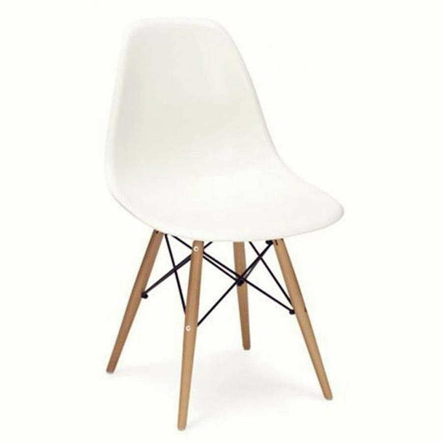 dining chair eames style wood base by ciel. Black Bedroom Furniture Sets. Home Design Ideas