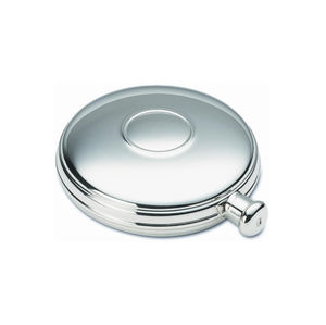 Classic Round Silver Hip Flask - mens