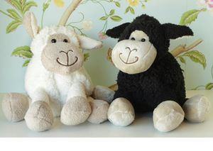 Black Lamb Soft Toy With Optional Personalisation - gifts for babies & children