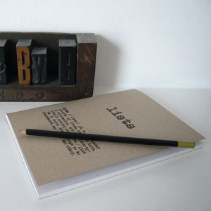 Hand Printed Notebook