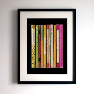 David Bowie Hunky Dory Album As Books Poster