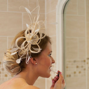 Feather And Pearl Fascinator