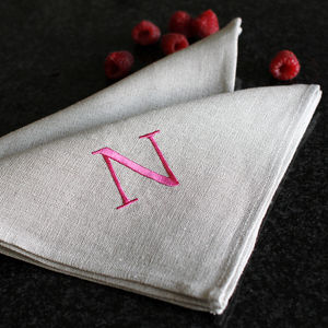 Coloured Monogrammed Napkins