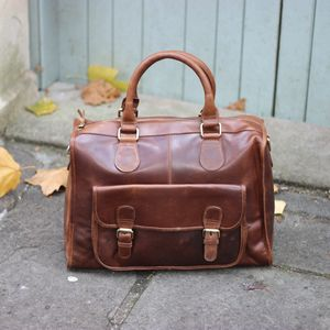Leather Weekend Bag - holdalls & weekend bags