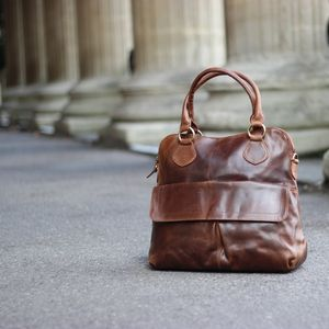 Colston Leather Pleat Pocket Tote