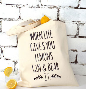 'Gin And Bear It' Tote Bag - top 50 gin gifts