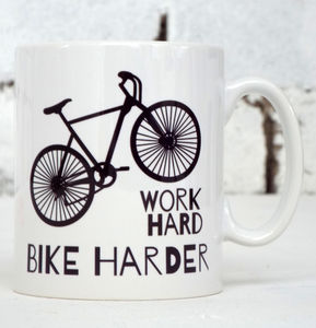 'Bike Harder' Bike Mug - mugs