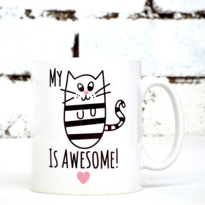 'Awesome Cat' Cat Mug - mugs