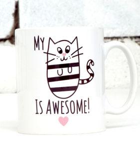 'Awesome Cat' Cat Mug