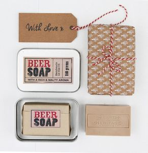 Moisturising Beer Gift Soap - stocking fillers under £15