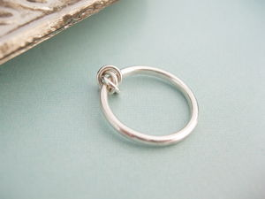 Eternity Knot Ring With Silver Knot - wedding & engagement rings