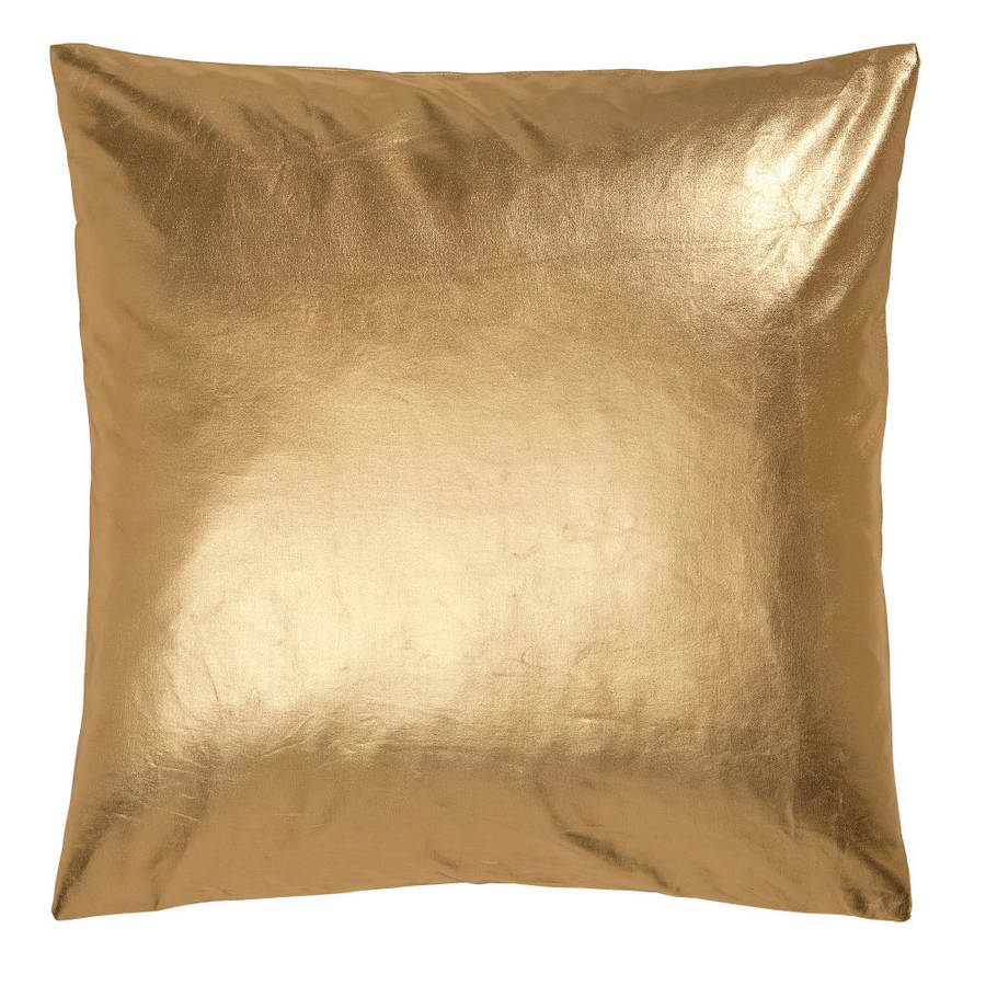 Metallic Gold Cushion By Ciel Notonthehighstreet Com