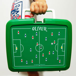 Personalised Traditional Football Lunchbox - personalised